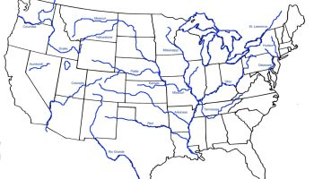 Blank Outline Map 5 of the USA | WhatsAnswer