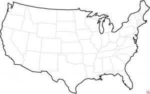 Blank outline map of the United States 5