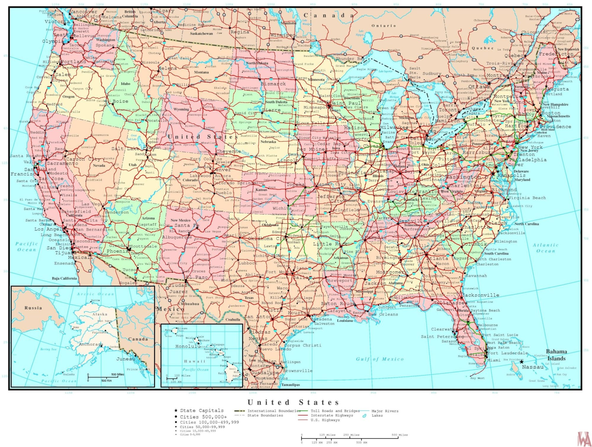 US Rivers water flows map | WhatsAnswer