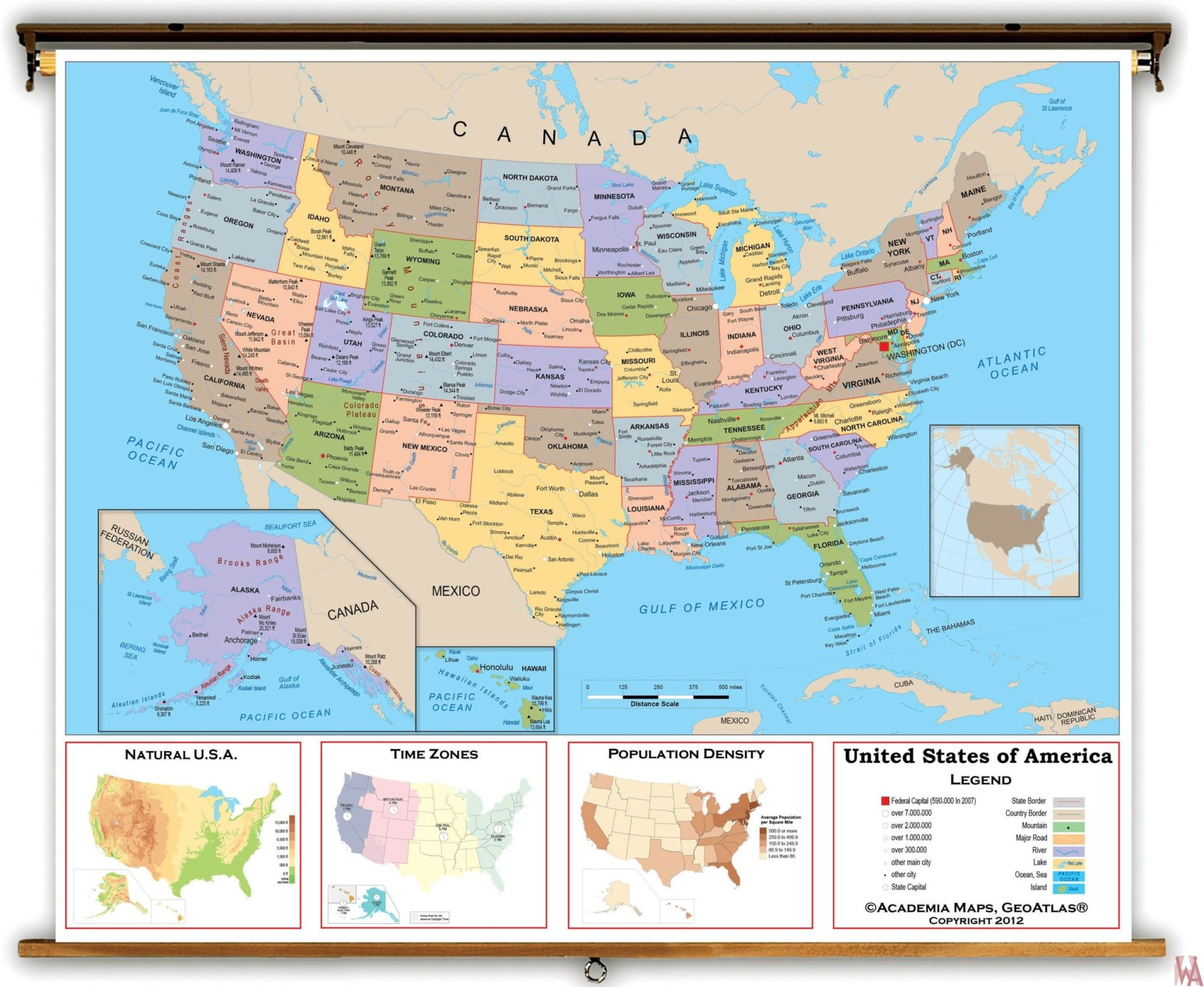 large political map of the usa with political maps of usa