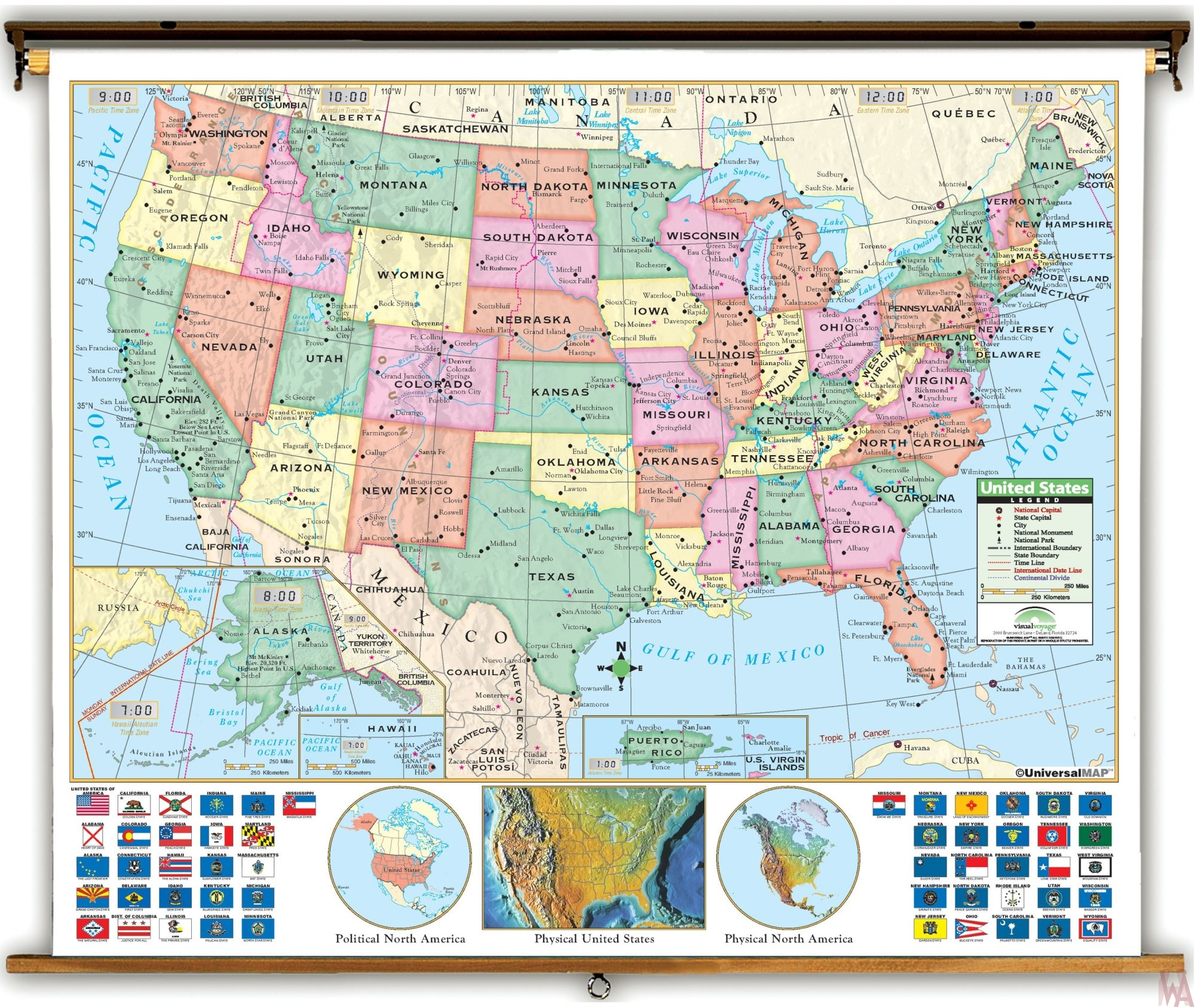 Political  map of the United States  source Universal map