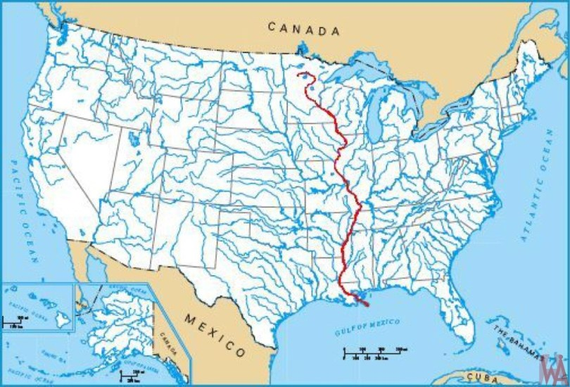Map Of Canada And Usa Rivers US Major Rivers Map   Geography Map of USA   WhatsAnswer