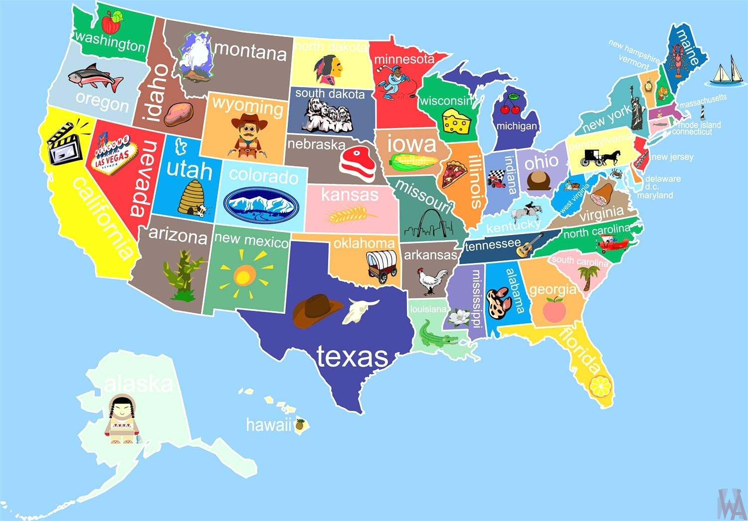 State Wise major tourist attractions maps of the USA | WhatsAnswer