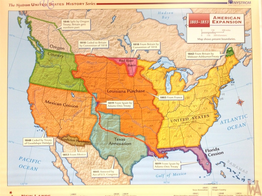 US History American Expansion map