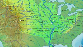 Mississippi river Coverage Map of the United States   WhatsAnswer