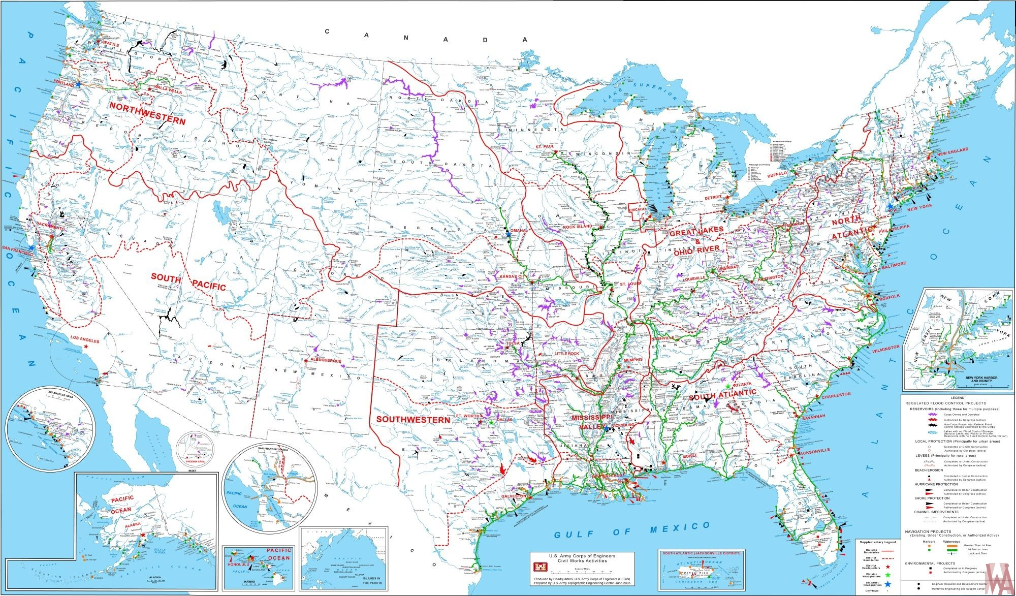 USACE Project map