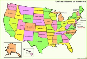 United States Political Map HD Image