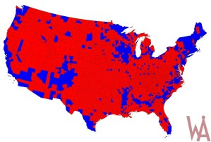 election map of the USA