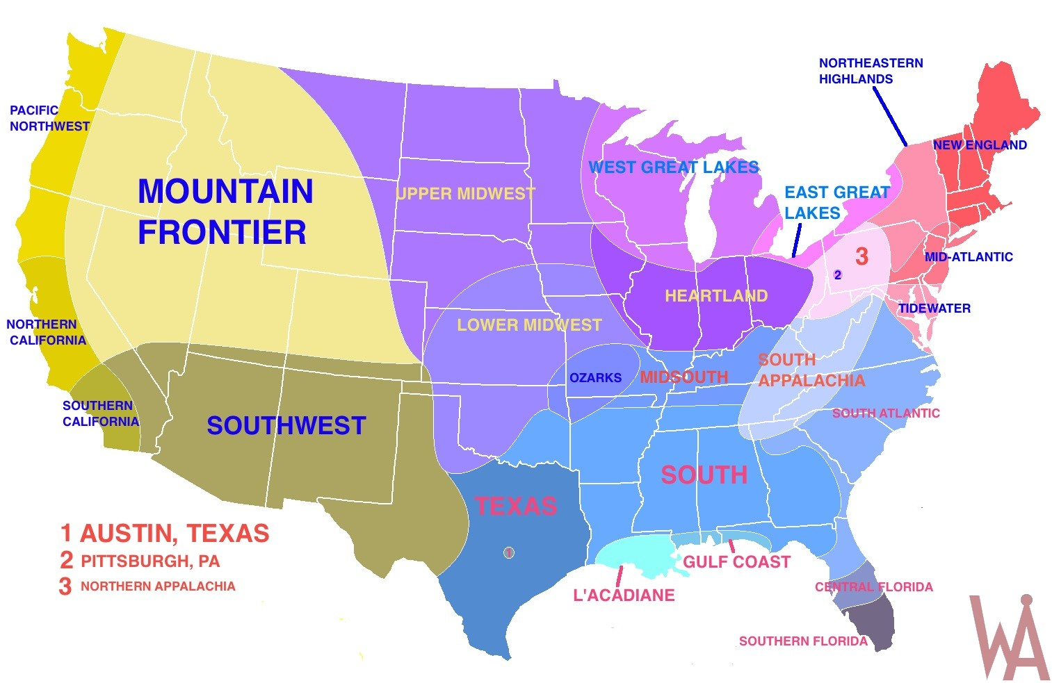 Regions Map Of Usa Geographic Region Of The Usa Whatsanswer