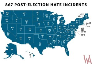 hate incidents hate count map of the USA
