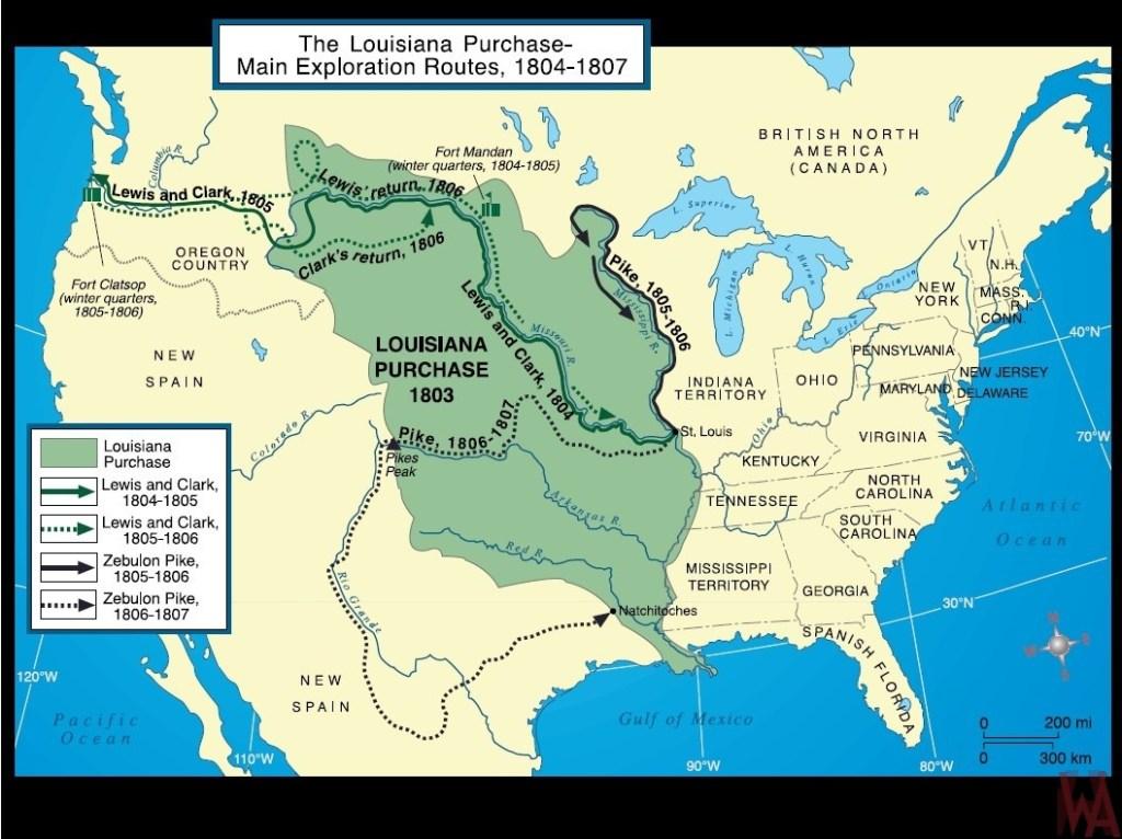 Us History Maps Whatsanswer - Pikes-peak-on-us-map