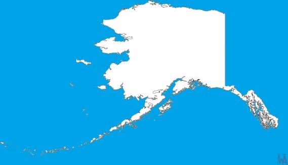 Blank Alaska Map.Alaska Blank Outline Map Blank Outline Map Of Alaska Whatsanswer