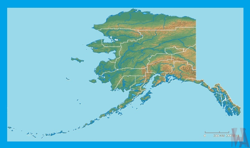 Alaska Physical Map | Physical Map of Alaska | WhatsAnswer