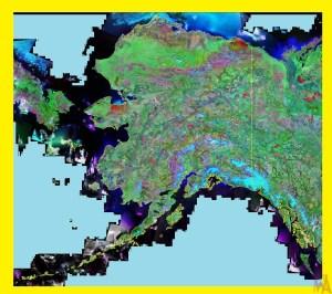 Alaska Satellite Map    Satellite Map of Alaska