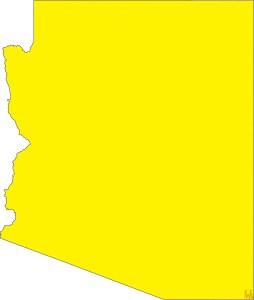 Arizona Blank Outline Map |  Blank Outline Map of Arizona – 2