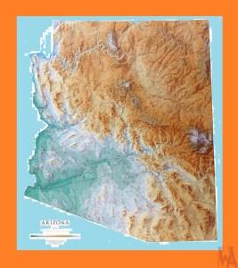Arizona Geographical Map  | Geographical   Map of Arizona
