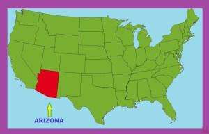Arizona Location  Map    Location  Map of Arizona