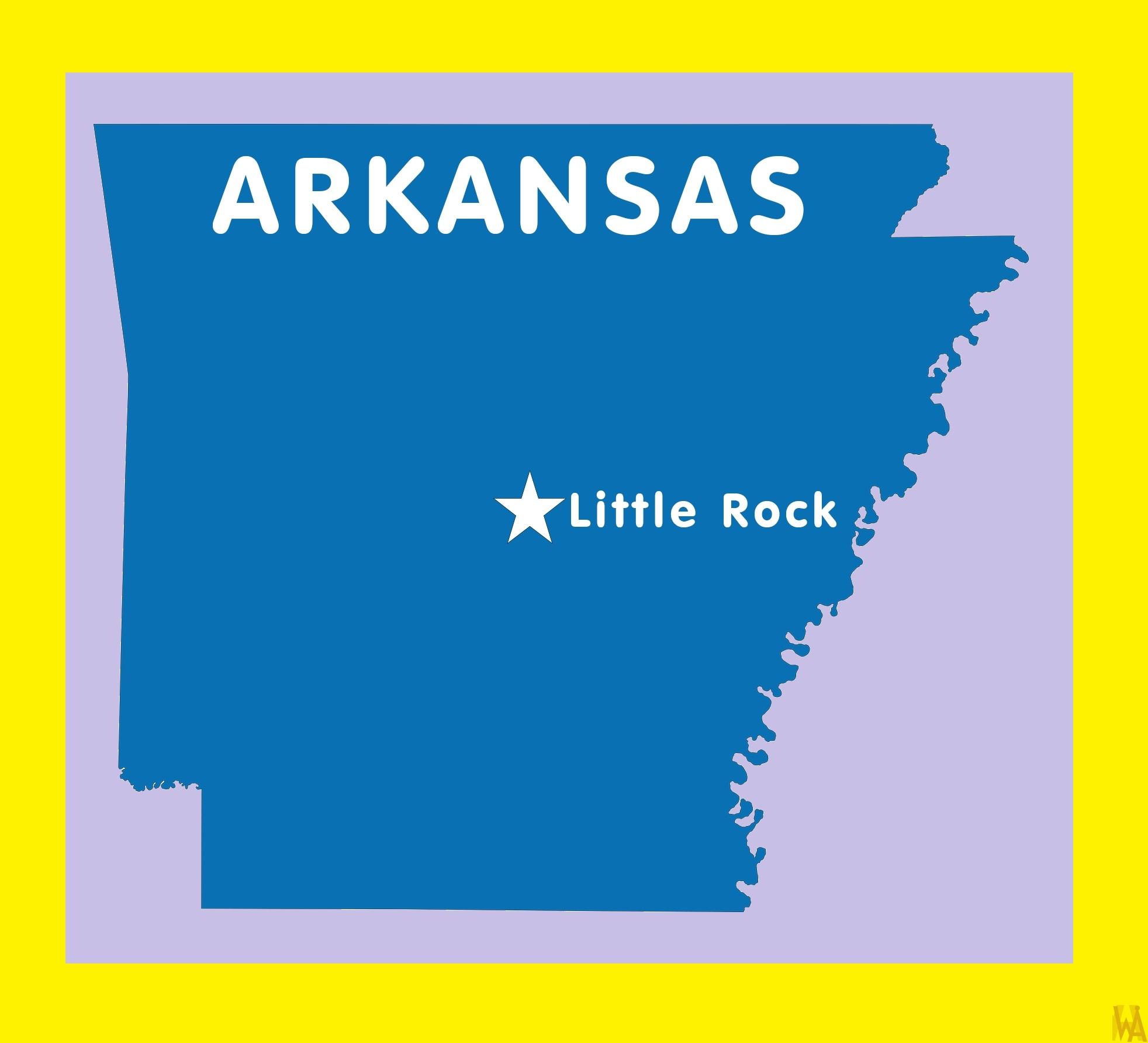 Arkansas Capital  Map |  Capital  Map of  Arkansas