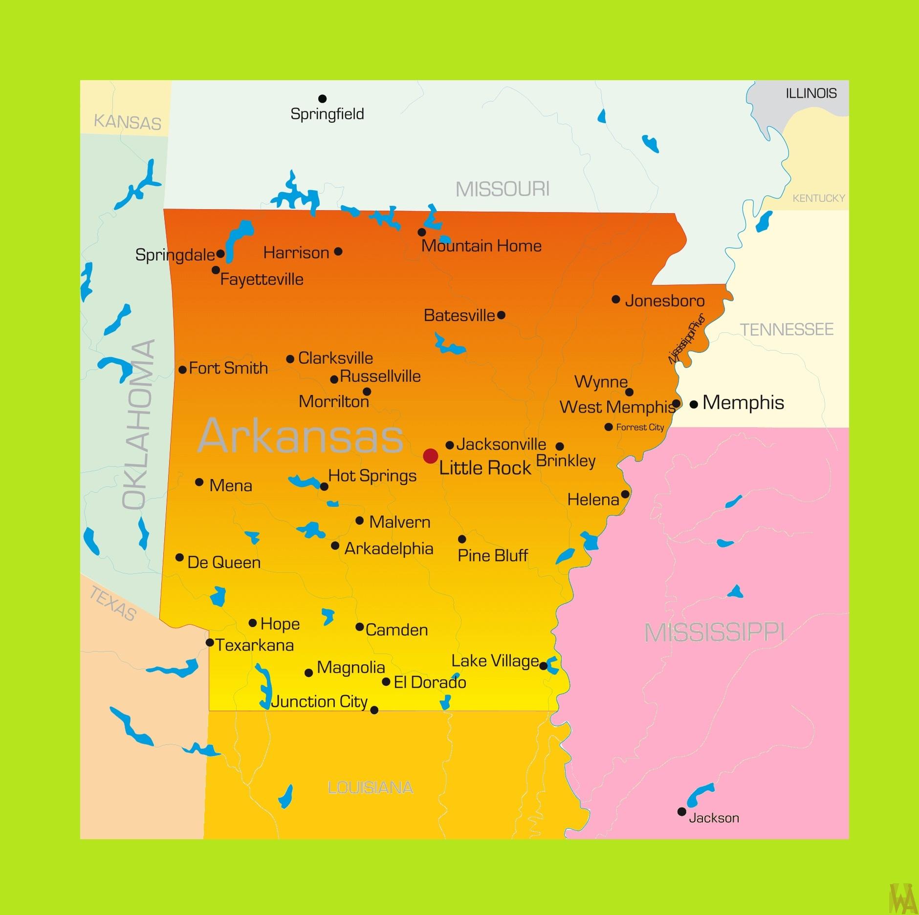 Arkansas Detailed Map | Detailed Map of Arkansas | WhatsAnswer