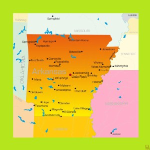 Arkansas Detailed  Map  | Detailed  Map of  Arkansas