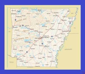 Arkansas Political  Map    Political  Map of  Arkansas