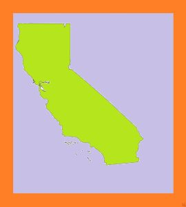 California Blank Outline Map  – 3  |  Blank Outline Map of California