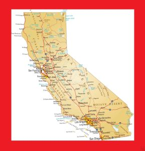 California Political  Map – 2  | Political  Map of California.