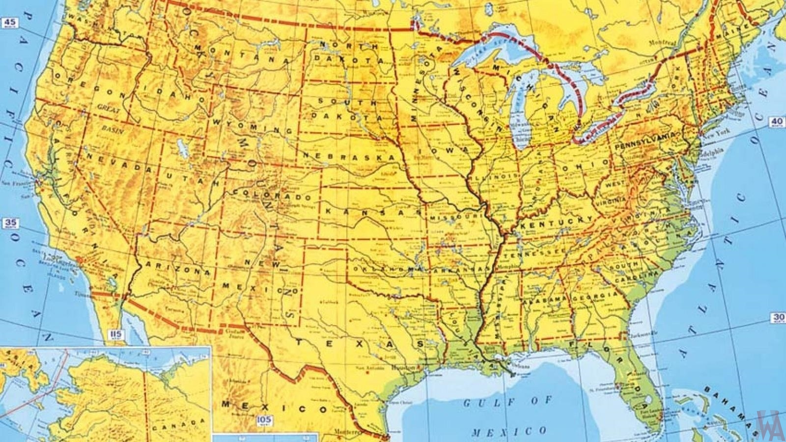 Historical Map of USA