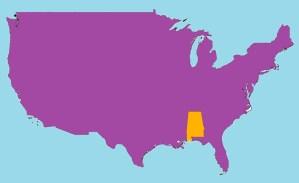 Alabama Location  Map |  Location  Map of Alabama. High Resolution