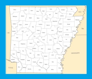 Arkansas County Map | Large Printable and Standard Map