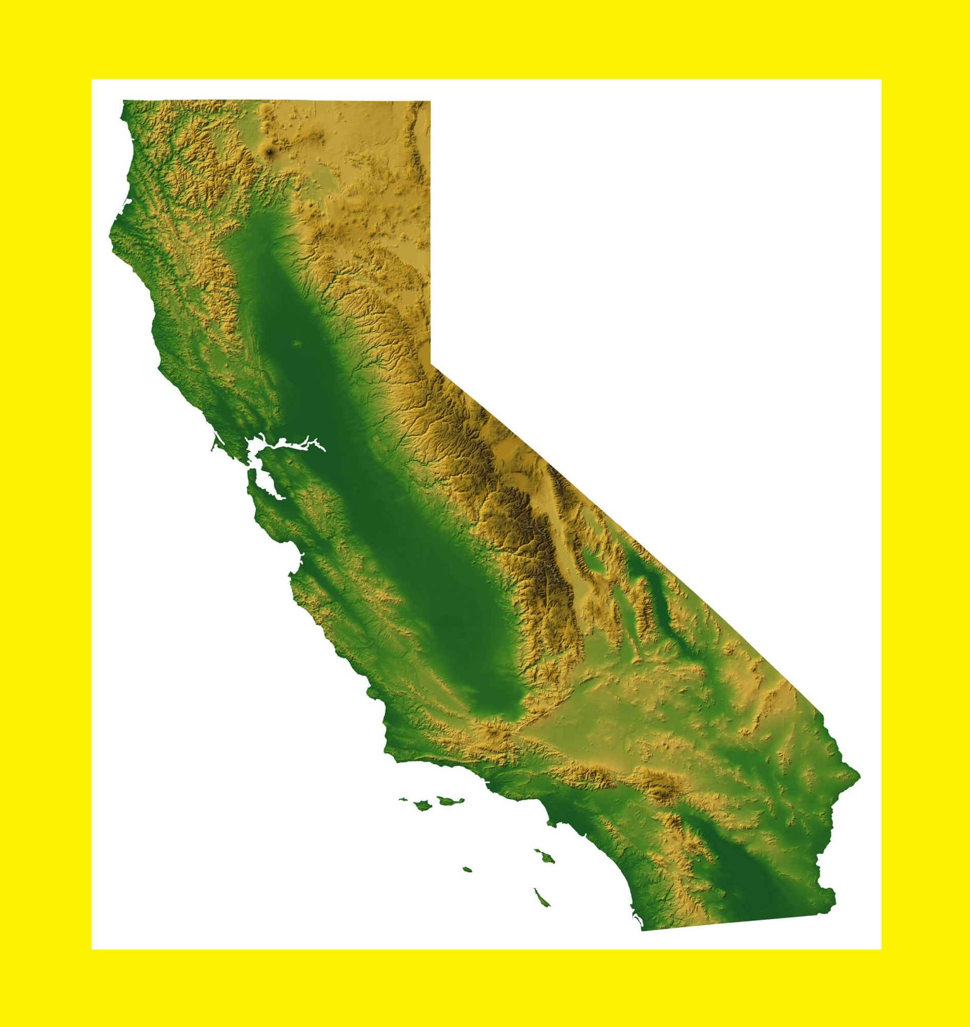 California Satellite Map | Large Printable and Standard Map