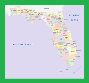 Florida County Map | Large Printable and Standard Map 2
