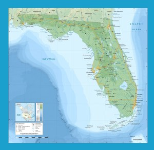 Florida Physical Map | Large Printable and Standard Map 2