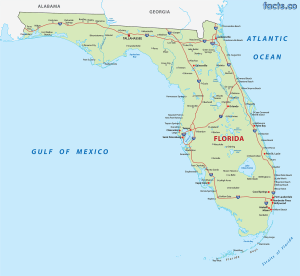 Map of Florida | Political, Physical, Geographical, Transportation, And Cities Map
