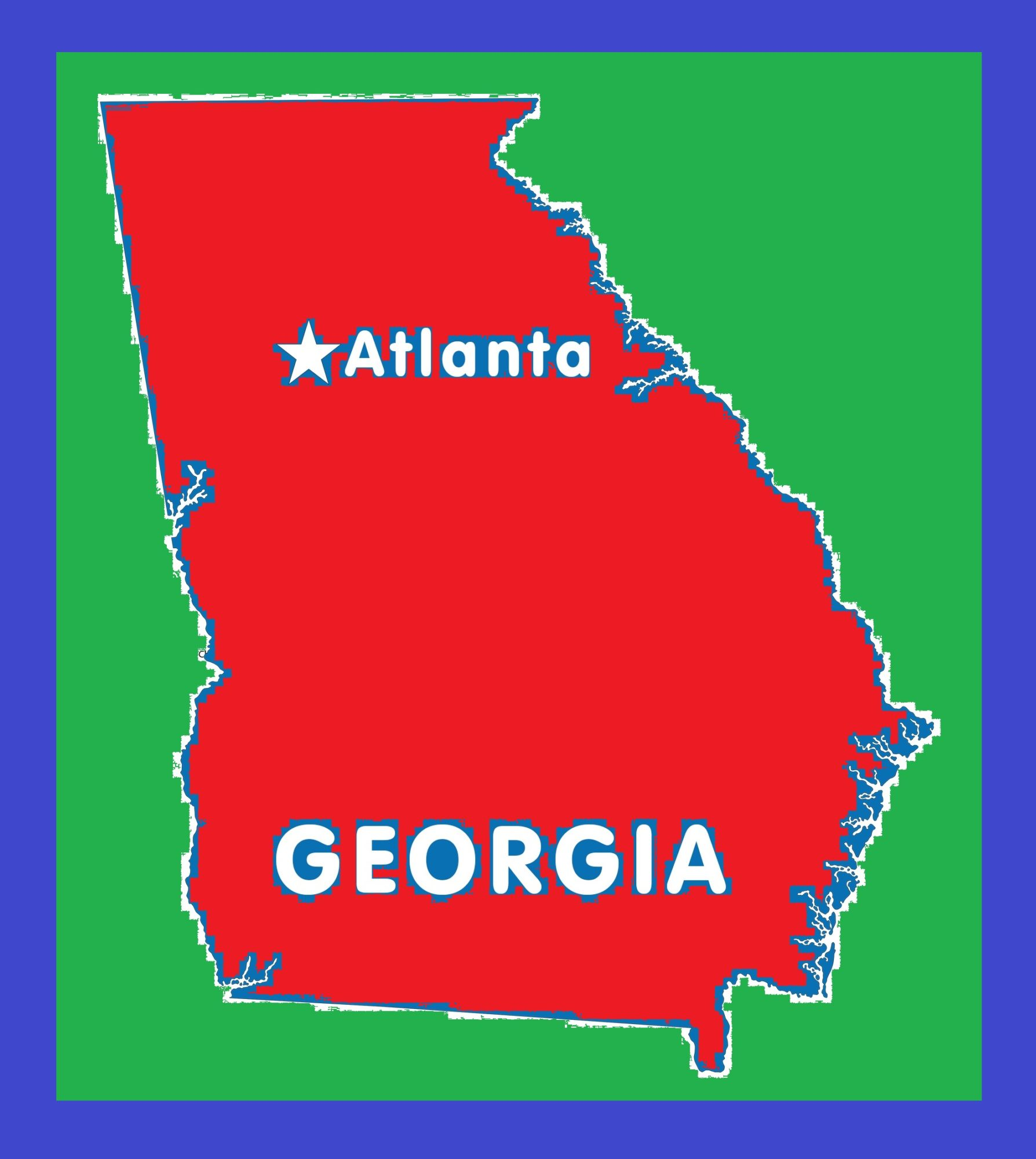 Georgia Capital Map | Large Printable and Standard Map 4