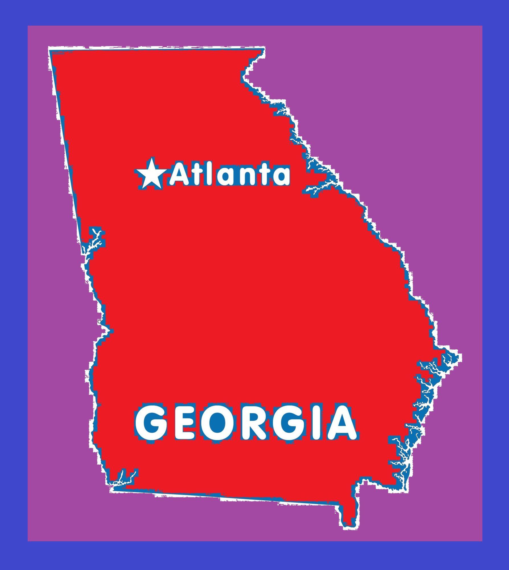 Georgia Capital Map | Large Printable and Standard Map 10