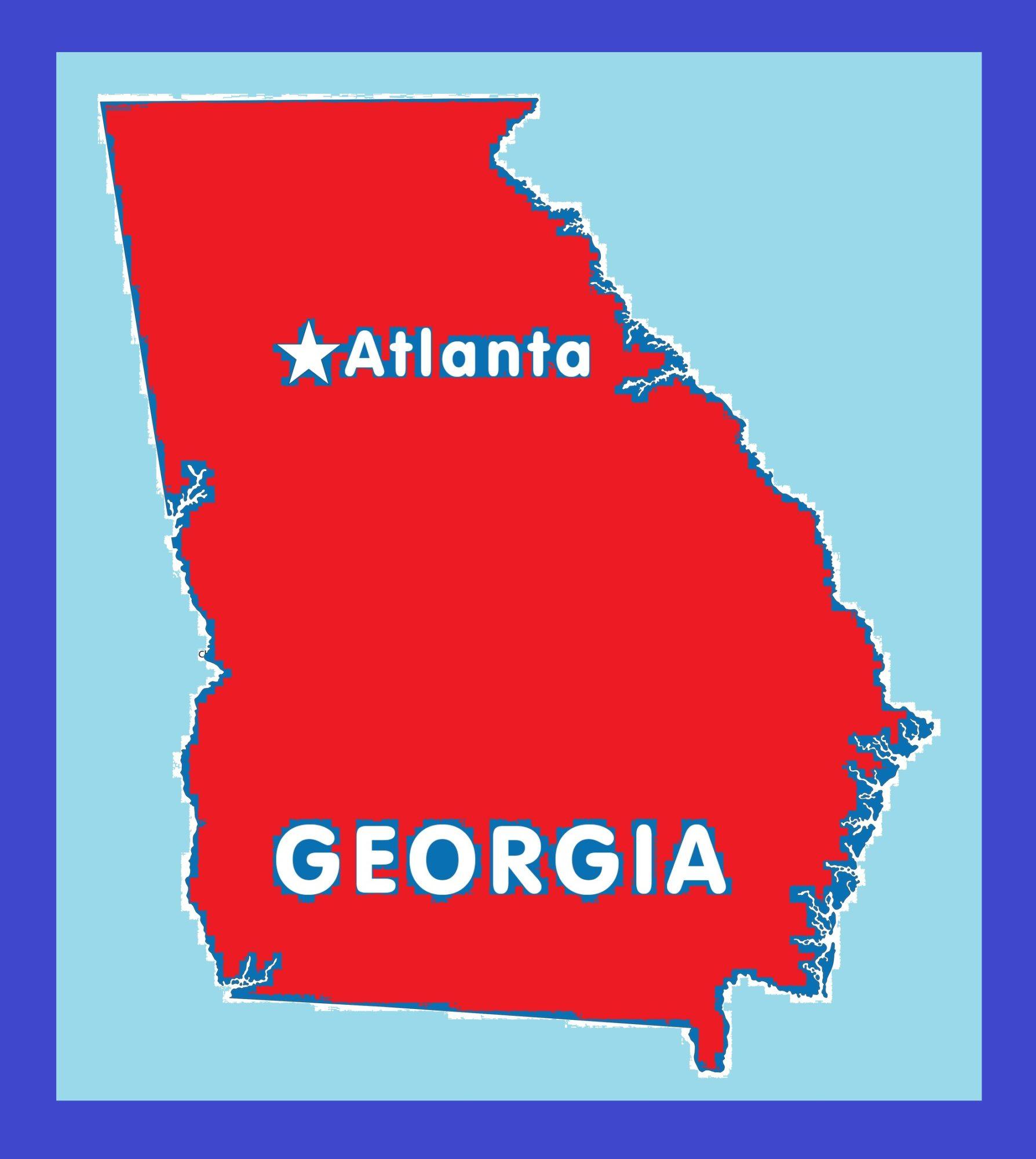 Georgia Capital Map   Large Printable and Standard Map 7
