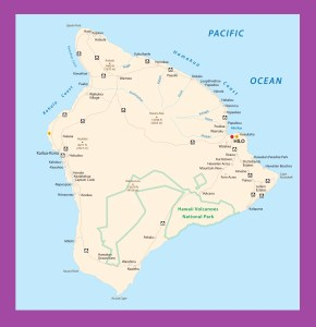 Hawaii Big Island Map | Large Printable and Standard Map 2