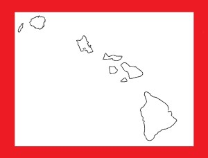 Hawaii Blank Outline Map | Large Printable and Standard Map 14