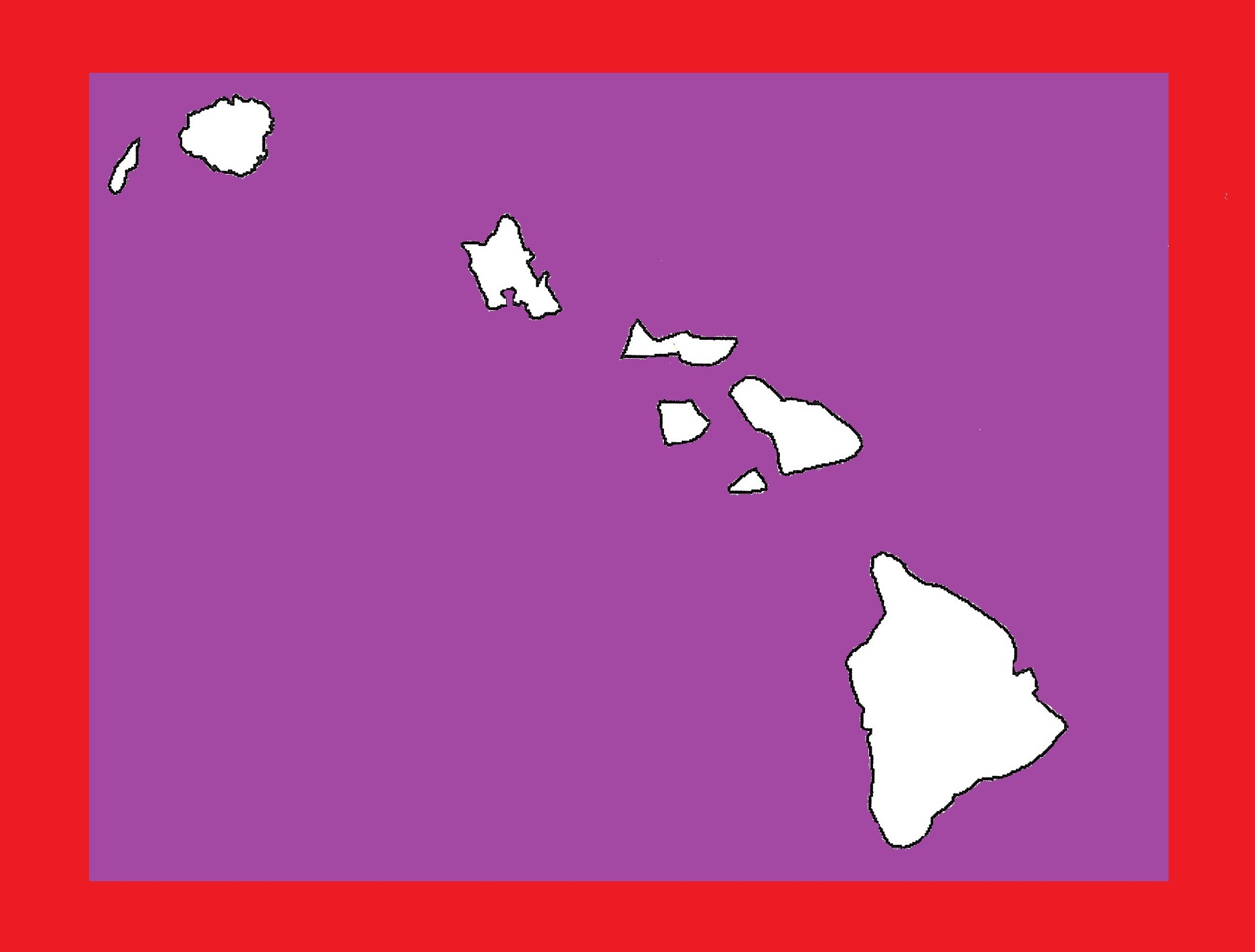 Hawaii Blank Outline Map | Large Printable and Standard Map 18