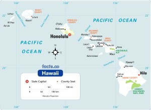Hawaii Physical Map | Large Printable and Standard Map