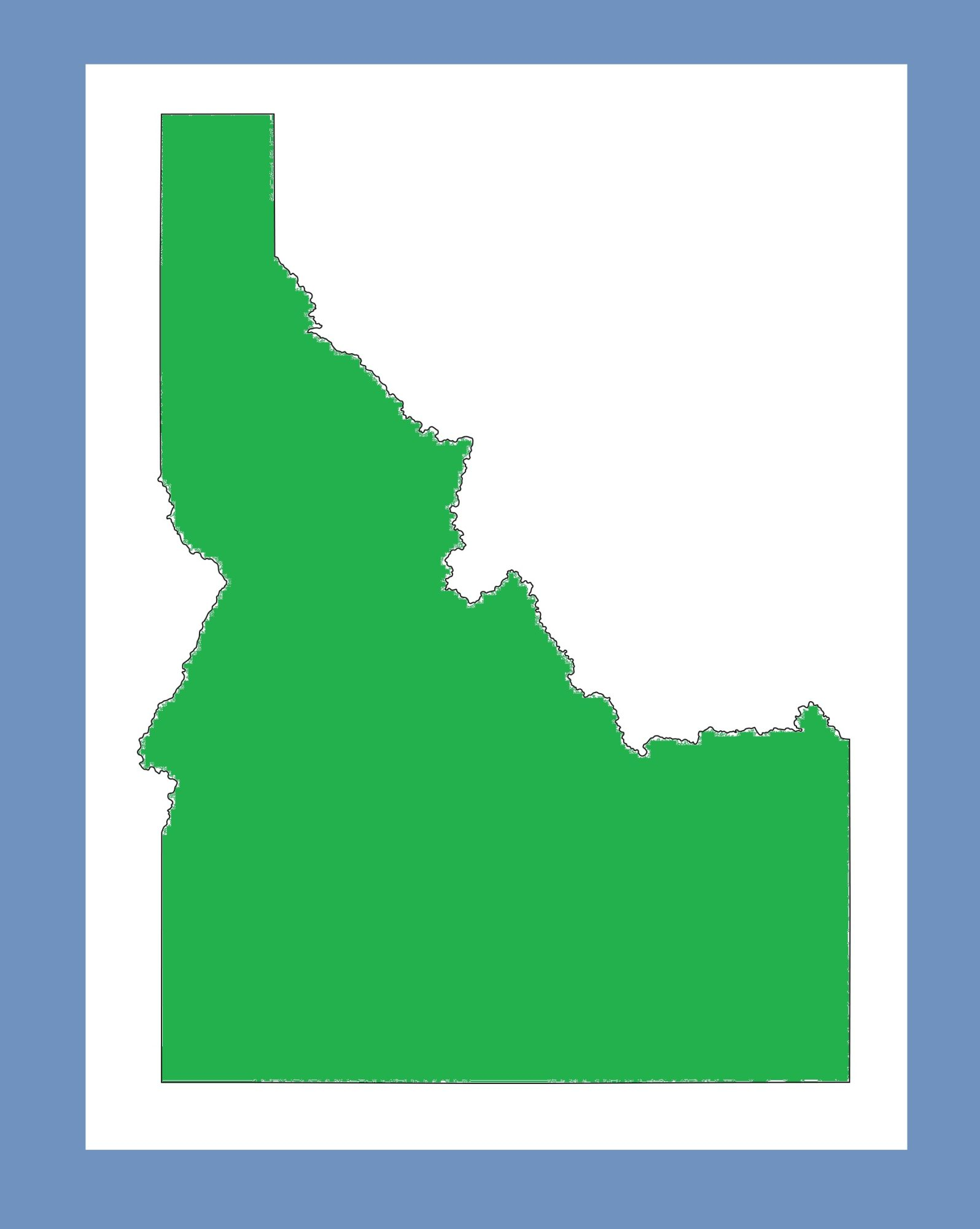 Idaho Blank Outline Map   Large Printable and Standard Map 9