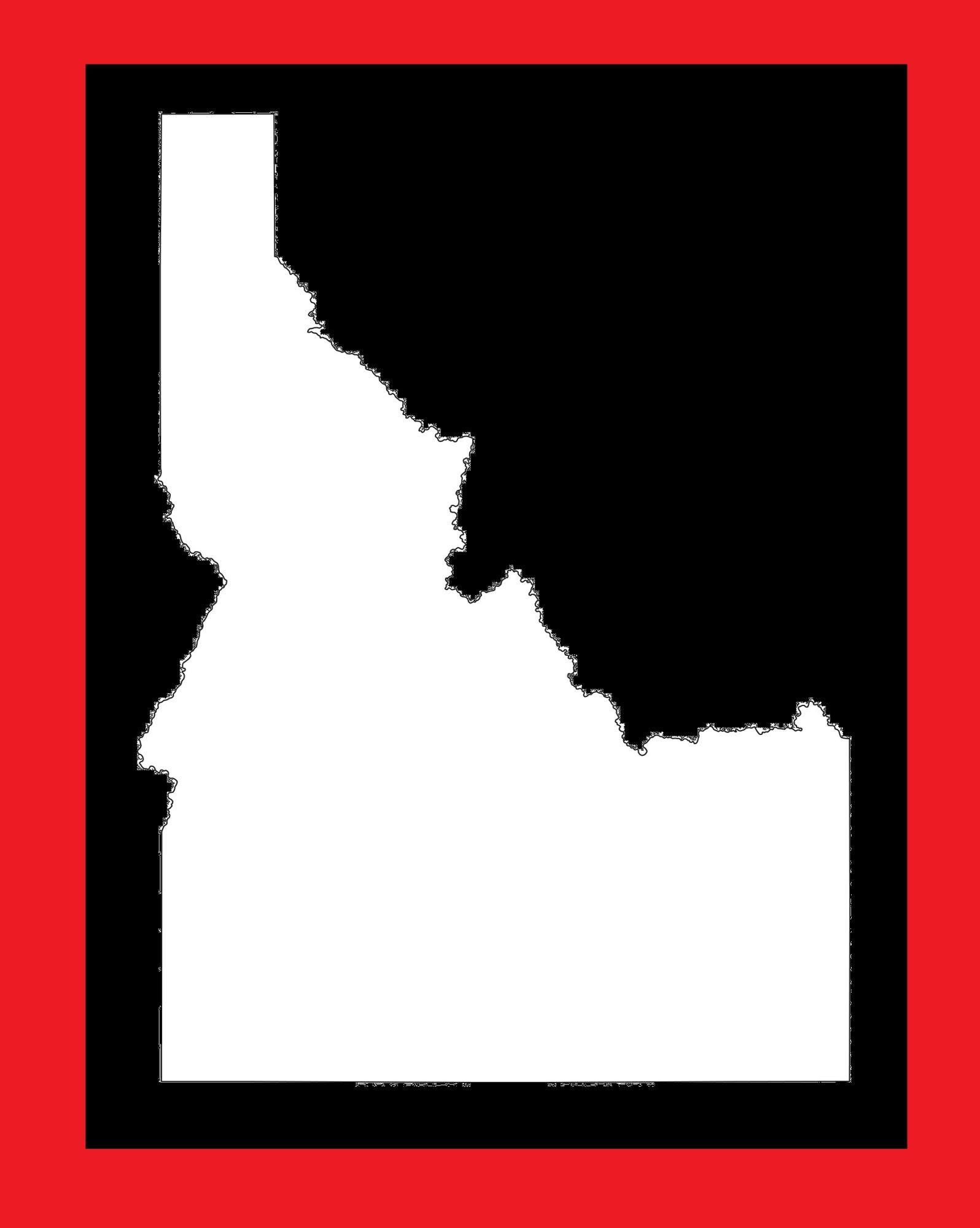Idaho Blank Outline Map | Large Printable and Standard Map 6