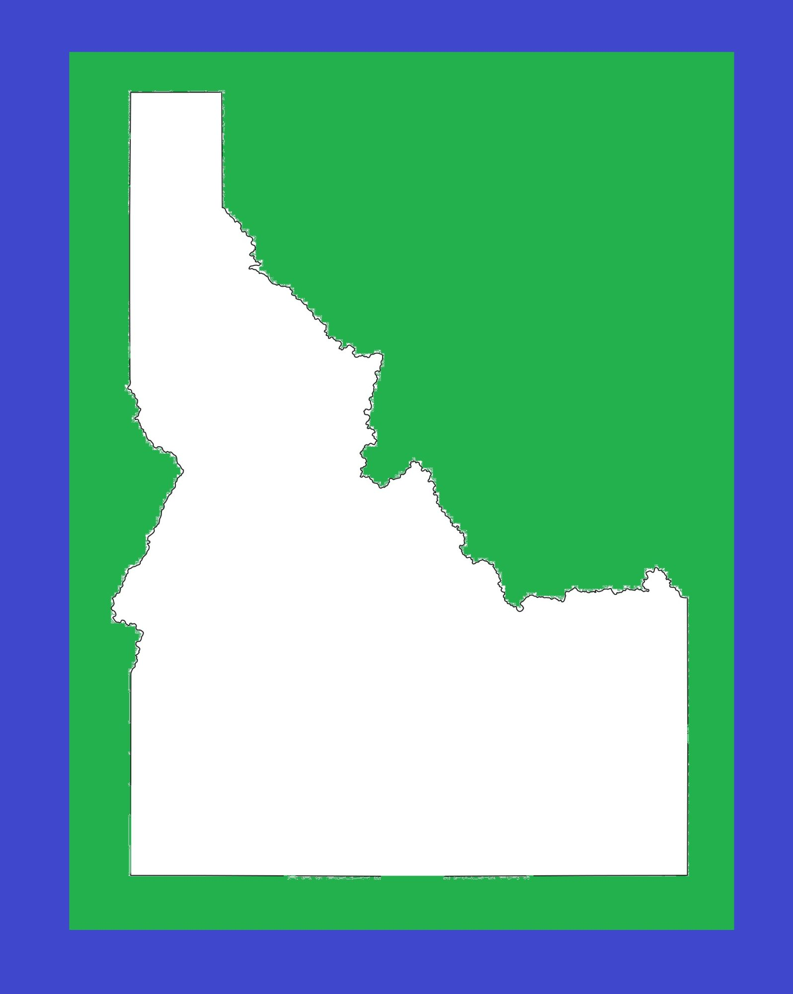 Idaho Blank Outline Map | Large Printable and Standard Map 4