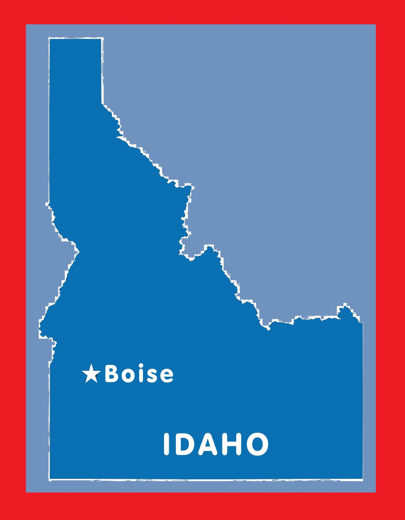 Idaho Capital Map | Large Printable and Standard Map 3