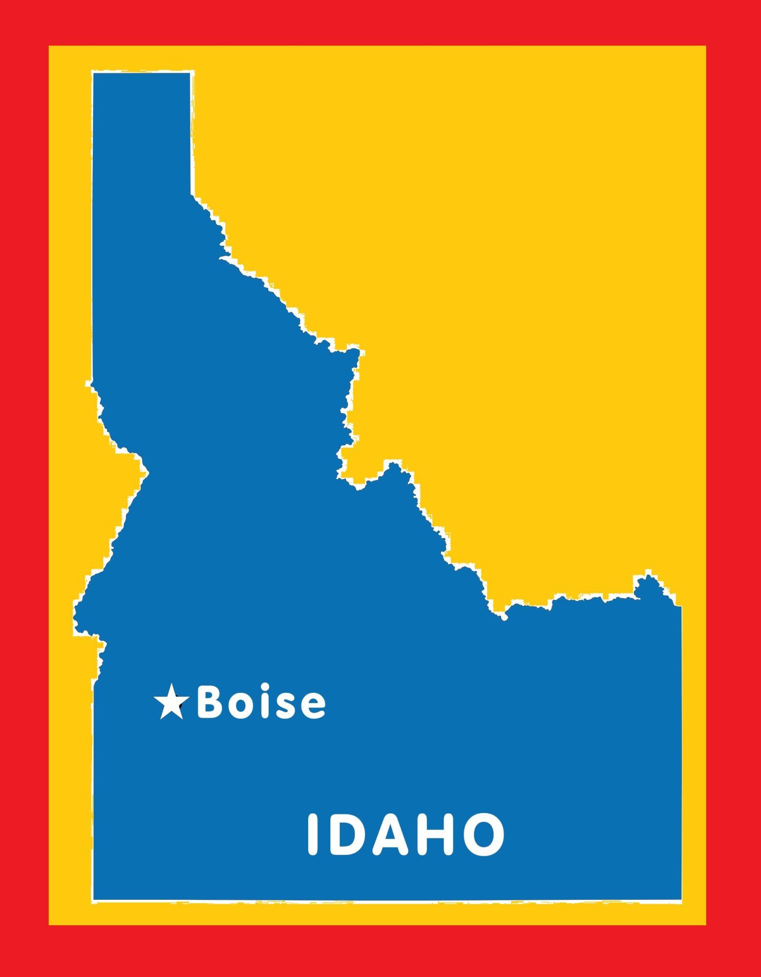 Idaho Capital Map | Large Printable and Standard Map 5