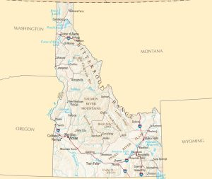 Idaho Political Map   Large Printable and Standard Map 3