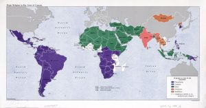 The World Religion Map – 1988   Large, Printable Downloadable Map