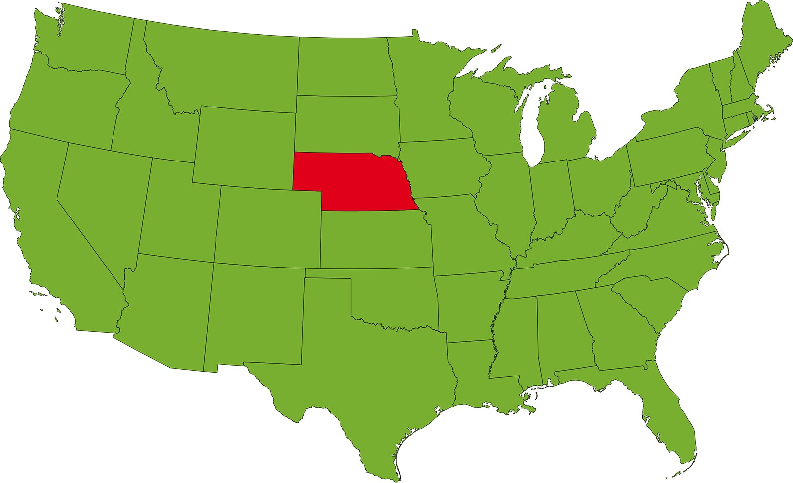 Nebraska Location Map   Large Printable High Resolution and Standard Map
