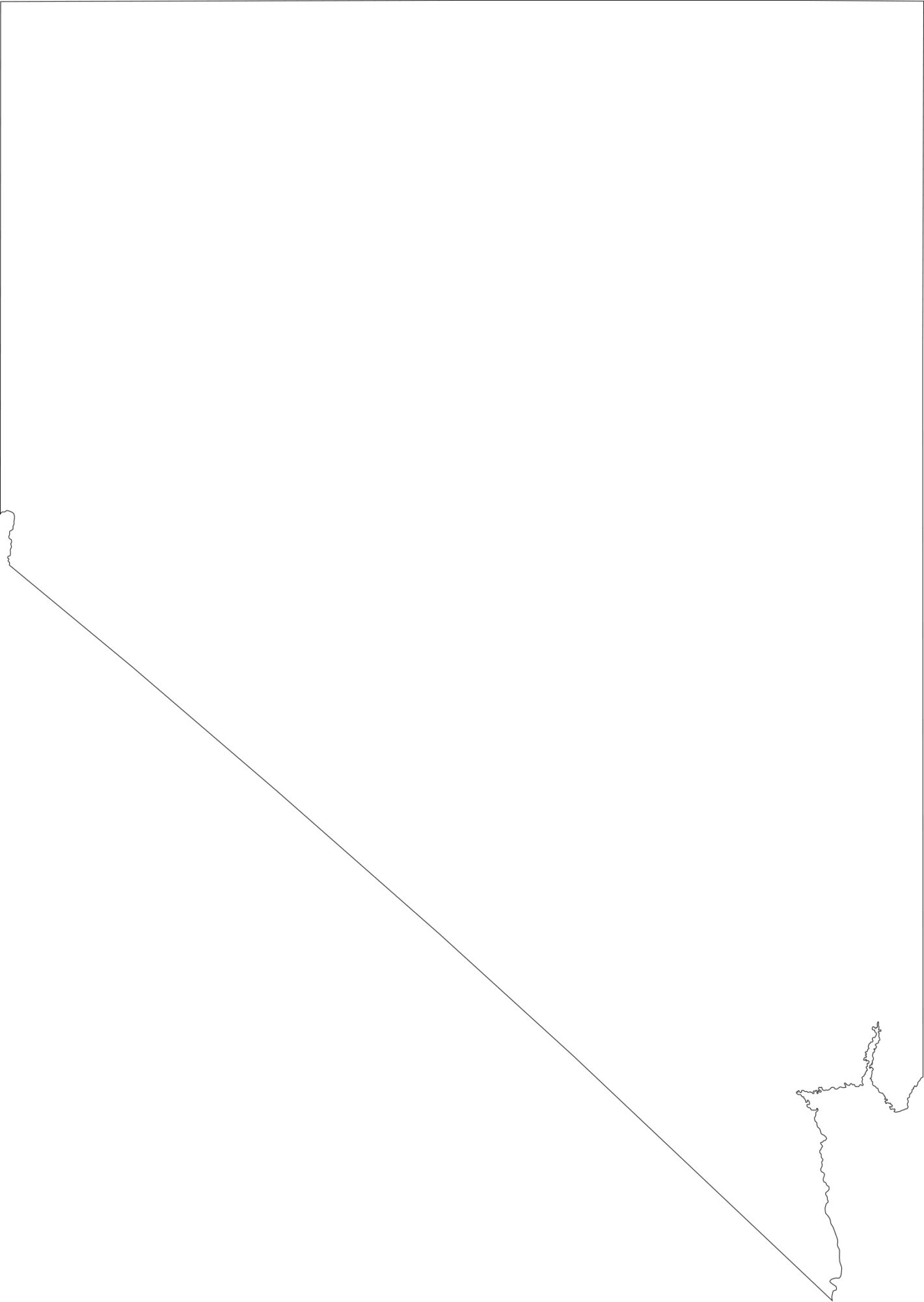 Nevada blank outline Map | Large Printable High Resolution and Standard Map